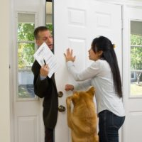 Agressive Door to door sales