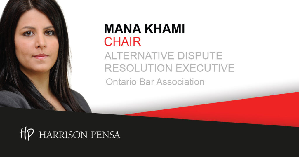 Mana Khami is Chair of the Alternative Dispute Resolution Executive